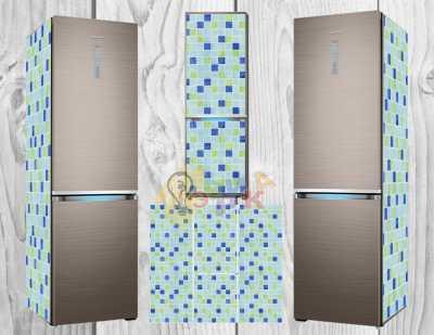 Фото: Дизайнерские наклейки на холодильник Мозаика