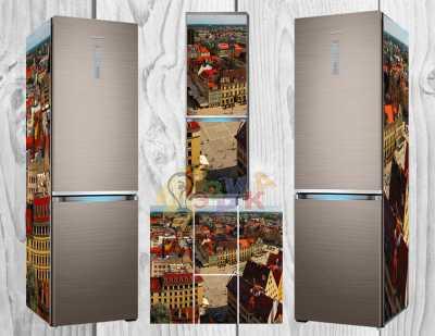 Фото: Дизайнерские наклейки на холодильник Прага