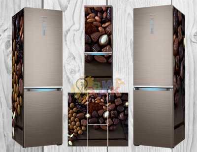 Фото: Дизайнерские наклейки на холодильник Шоколад