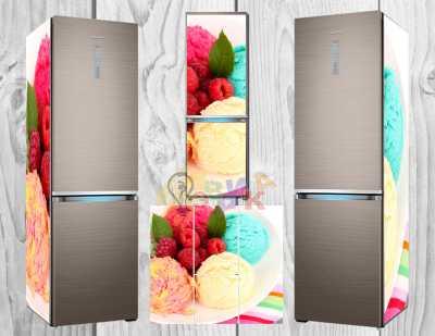 Фото: Дизайнерские наклейки на холодильник Мороженое