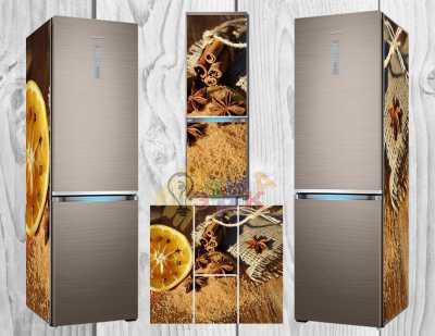 Фото: Дизайнерские наклейки на холодильник Корица