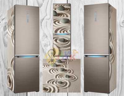 Фото: Дизайнерские наклейки на холодильник Песок