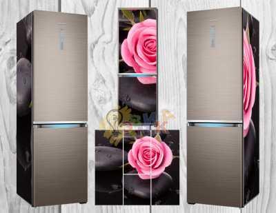Фото: Дизайнерские наклейки на холодильник Розы