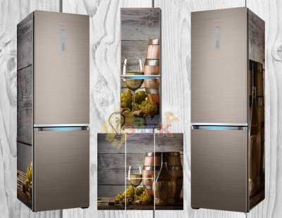 Фото: Дизайнерские наклейки на холодильник Сомелье