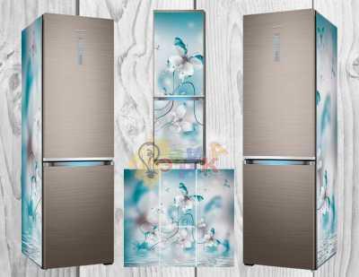 Фото: Дизайнерские наклейки на холодильник Бабочки