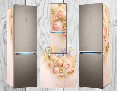 Фото: Дизайнерские наклейки на холодильник Витнаж