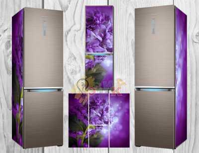 Фото: Дизайнерские наклейки на холодильник Гортензия