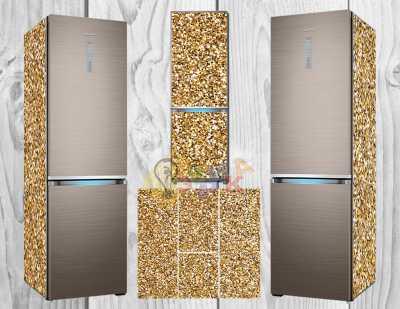 Фото: Дизайнерские наклейки на холодильник Золото