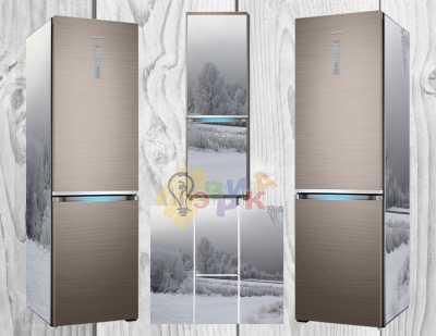 Фото: Дизайнерские наклейки на холодильник Изморозь
