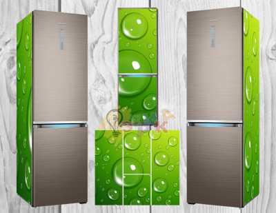 Фото: Дизайнерские наклейки на холодильник Капля