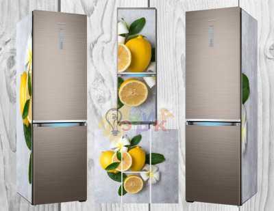 Фото: Дизайнерские наклейки на холодильник Лимон