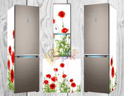 Фото: Дизайнерские наклейки на холодильник Маки