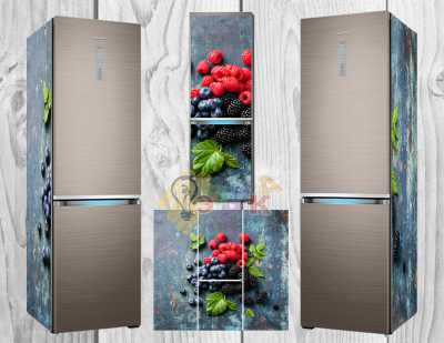 Фото: Дизайнерские наклейки на холодильник Черника