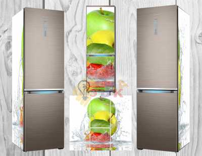 Фото: Дизайнерские наклейки на холодильник Фреш