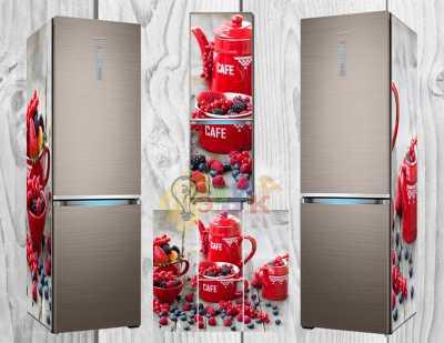 Фото: Дизайнерские наклейки на холодильник Ягодный микс