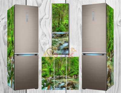 Фото: Дизайнерские наклейки на холодильник Гармония