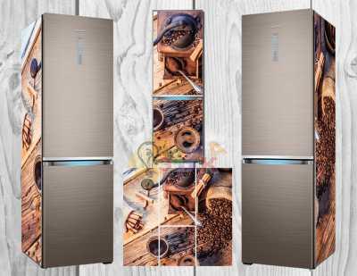 Фото: Дизайнерские наклейки на холодильник Кофемолка