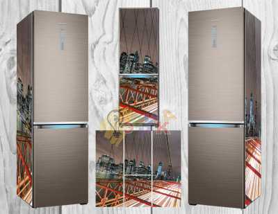 Фото: Дизайнерские наклейки на холодильник Хайтек