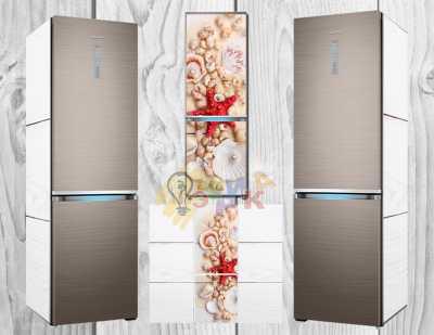 Фото: Дизайнерские наклейки на холодильник Ракушки