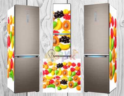 Фото: Дизайнерские наклейки на холодильник Фрукты 3Д