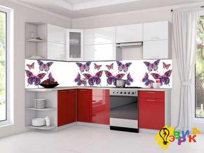 Фото: Фартук для кухни из пластика Бабочки