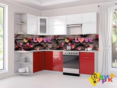 Фото: Фартук для кухни из пластика Любовь