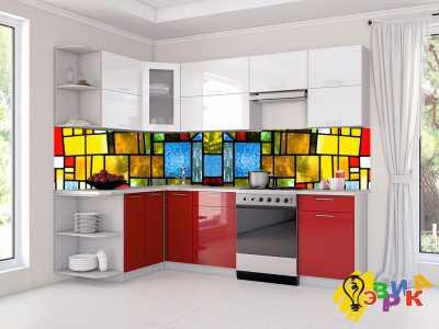 Фото: Фартук для кухни из пластика Витраж