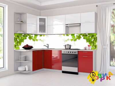 Фото: Фартук для кухни из пластика Виниградная лоза