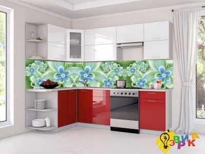Фото: Фартук для кухни из пластика Цветы