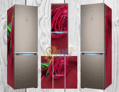 Фото: Дизайнерские наклейки на холодильник Бордо