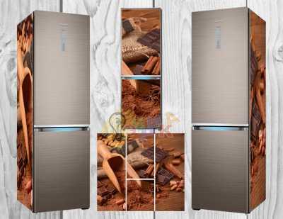 Фото: Дизайнерские наклейки на холодильник специи Корица