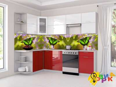Фото: Фартук для кухни из пластика Бабочка