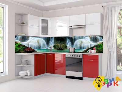Фото: Фартук для кухни из пластика Водопад