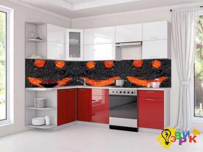 Фото: Фартук на кухню из пластика Икра