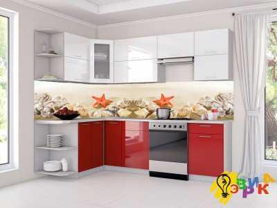 Фото: Фартук для кухни из пластика Ракушки