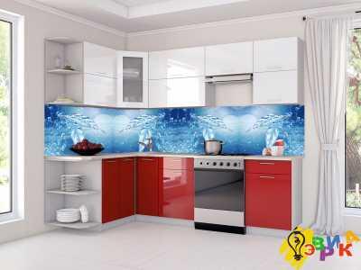 Фото: Фартук для кухни из пластика Морозные рисунки
