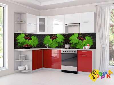 Фото: Фартук для кухни из пластика Листья