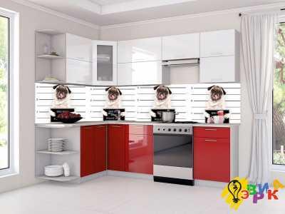 Фото: Фартук для кухни из пластика Мопсы