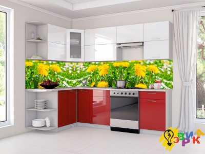 Фото: Фартук для кухни из пластика Поля одуванчиков