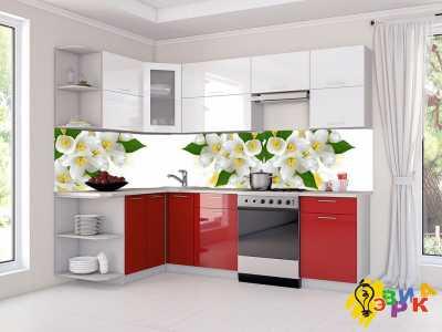 Фото: Фартук для кухни из пластика Жасмин