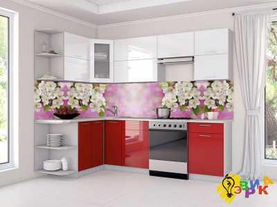 Фото: Фартук для кухни из пластика Яблоня