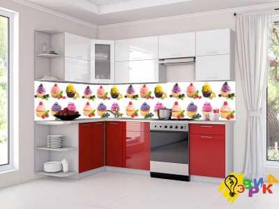 Фото: Фартук для кухни из пластика Кексы