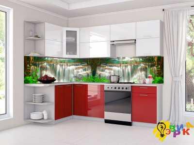 Фото: Фартук для кухни из пластика Водопады