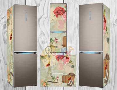 Фото: Дизайнерские наклейки на холодильник Винтаж