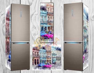 Фото: Дизайнерские наклейки на холодильник Ретро
