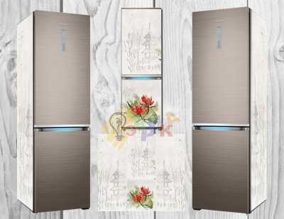 Фото: Дизайнерские наклейки на холодильник Японская мудрость