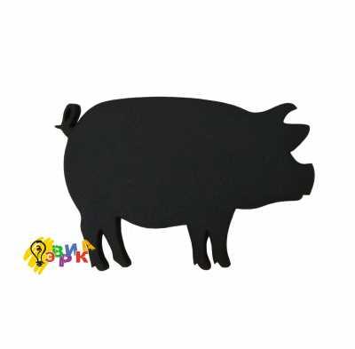 Фото: Меловой ценник свинья