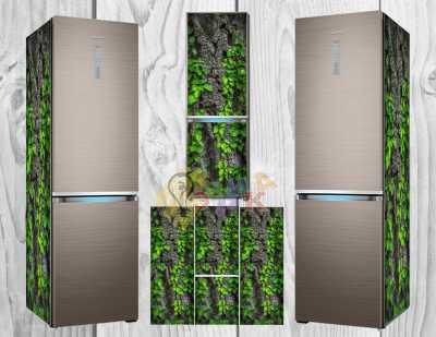 Фото: Дизайнерские наклейки на холодильник Лианы 3Д