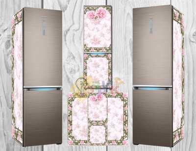 Фото: Дизайнерские наклейки на холодильник Шебби шик