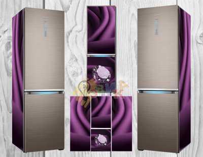 Фото: Дизайнерские наклейки на холодильник Диаманты